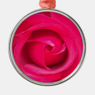 Romantic Red Pink Rose Metal Ornament