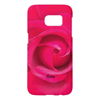 Romantic Red Pink Rose Personalized Samsung Galaxy S7 Case