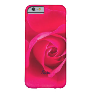 Romantic Red Pink Rose Personalized v2 Barely There iPhone 6 Case