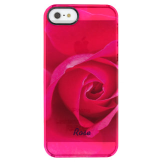 Romantic Red Pink Rose Personalized v2 Clear iPhone SE/5/5s Case
