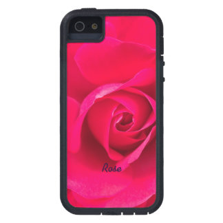 Romantic Red Pink Rose Personalized v2 iPhone 5 Case