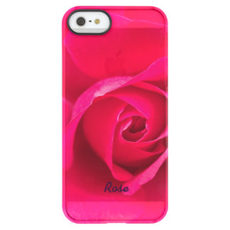 Romantic Red Pink Rose Personalized v2 Permafrost® iPhone SE/5/5s Case
