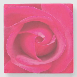 Romantic Red Pink Rose Stone Coaster
