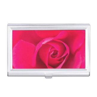 Romantic Red Pink Rose v2 Business Card Holder