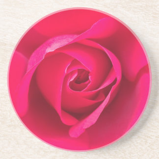Romantic Red Pink Rose v2 Coaster
