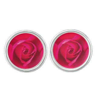 Romantic Red Pink Rose v2 Cufflinks