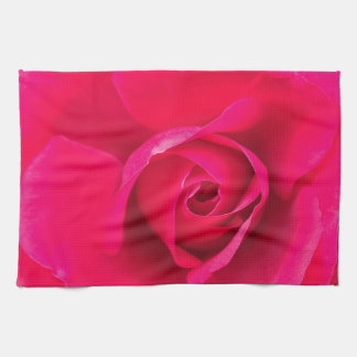 Romantic Red Pink Rose v2 Kitchen Towel