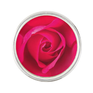 Romantic Red Pink Rose v2 Lapel Pin