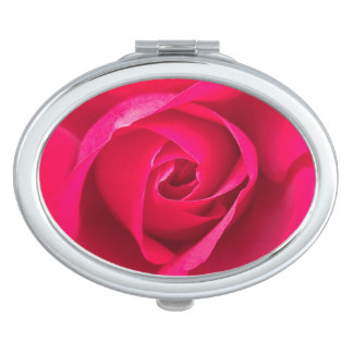 Romantic Red Pink Rose v2 Mirror For Makeup