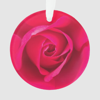 Romantic Red Pink Rose v2 Ornament