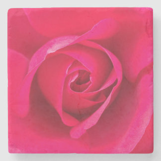 Romantic Red Pink Rose v2 Stone Coaster