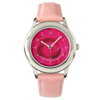 Romantic Red Pink Rose Watch