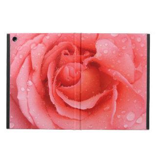 Romantic Red Pink Rose Water Drops iPad Air Case