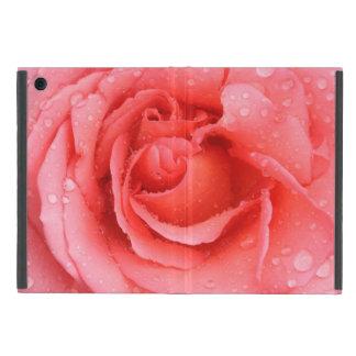 Romantic Red Pink Rose Water Drops iPad Mini Cover