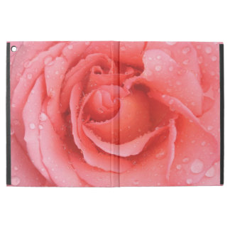 """Romantic Red Pink Rose Water Drops iPad Pro 12.9"""" Case"""