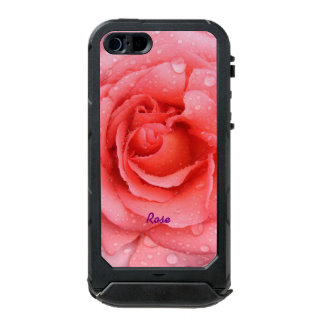 Romantic Red Pink Rose Water Drops Personalized Incipio ATLAS ID™ iPhone 5 Case