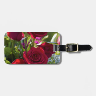 Romantic Red Rose Bouquet Bag Tag