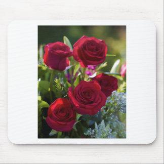Romantic Red Rose Bouquet Mouse Pad