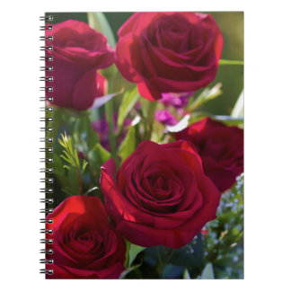 Romantic Red Rose Bouquet Notebooks