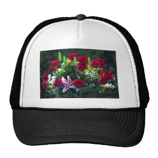 Romantic Red Rose Bouquet Trucker Hat
