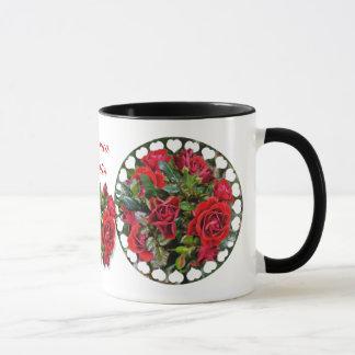 Romantic Red Roses ~ Ringer Mug
