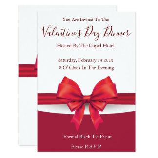Romantic Red Valentines Invitations