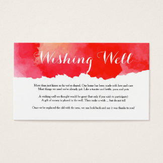 Romantic Red Watercolor - Wishing well card