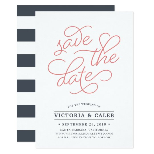 Romantic Request | Typography Save the Date Card