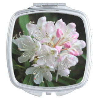 """Romantic Rhododendron"" Pink Flower Photo Makeup Mirror"