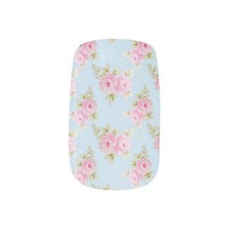 Romantic Rococo Pink Rose Minx Nail Nails Sticker