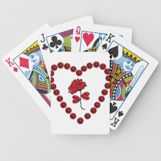 romantic rose bicycle playing cards