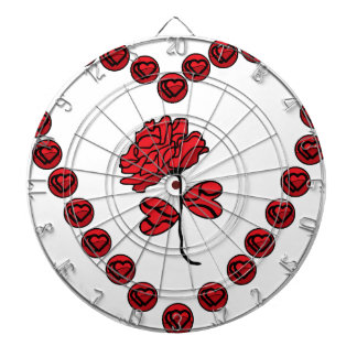 romantic rose dartboard