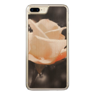 Romantic Rose Flowers Carved iPhone 7 Plus Case
