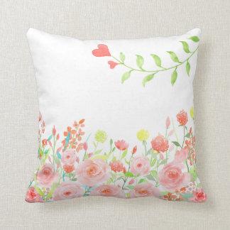 romantic rose garden pillow cushions white