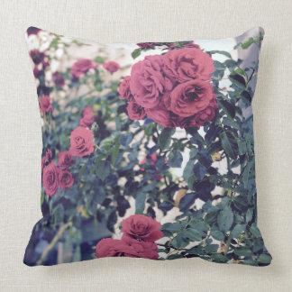 Romantic Rose Garden Throw Pillow