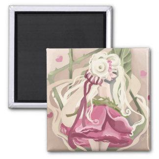 Romantic rose magnet