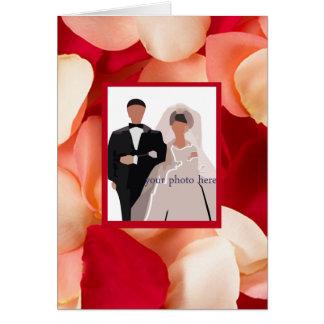 Romantic Rose Petal Photo Frame Cards