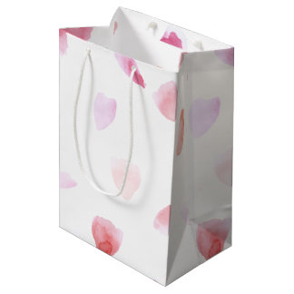 Romantic Rose Petals Medium Gift Bag