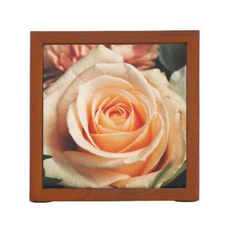 Romantic Rose Pink Rose Desk Organizer