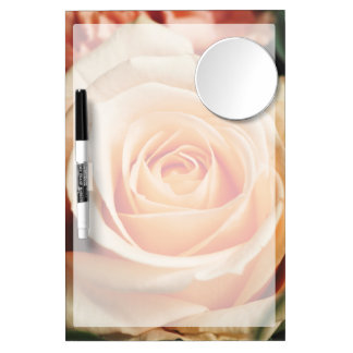Romantic Rose Pink Rose Dry Erase Board With Mirror