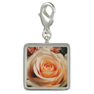 Romantic Rose Pink Rose Photo Charms