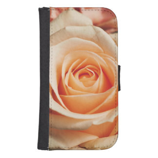 Romantic Rose Pink Rose Samsung S4 Wallet Case