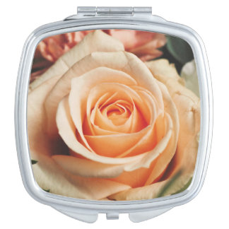Romantic Rose Pink Rose Travel Mirrors