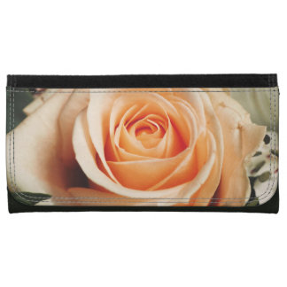 Romantic Rose Pink Roses Spring Flower Floral Leather Wallet For Women
