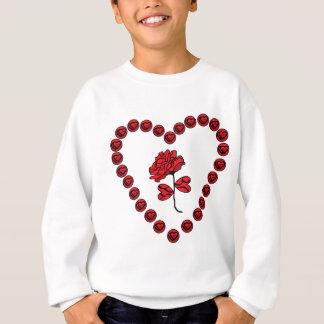 romantic rose sweatshirt