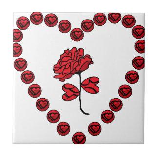 romantic rose tile