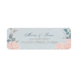 Romantic Rose Watercolor Address Labels