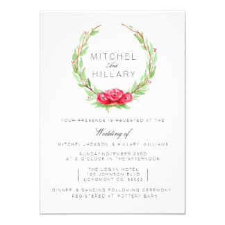 Romantic Rose Watercolor | Wedding Invite