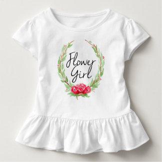 Romantic Rose Watercolor Wreath | Flower Girl Toddler T-shirt