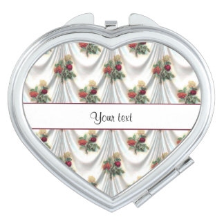 Romantic Roses & Drapes Compact Mirror